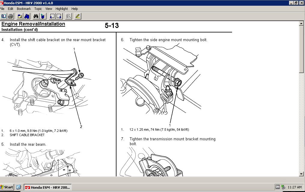 Honda       HRV    19992001 Factory Service   Shop Manual   Quality Service Manual