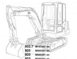 JCB Excavators 801, 802, 803, 804 Factory Service & Shop