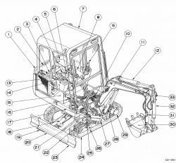Takeuchi Compact Excavator TB015 Factory Service & Shop