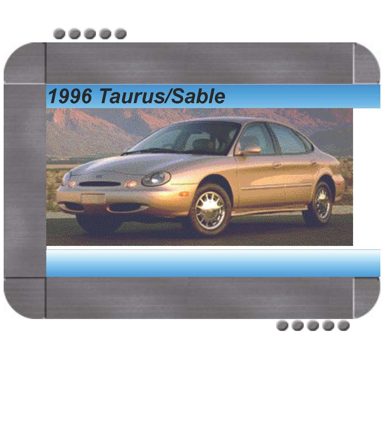 Ford Taurus  Mercury Sable 1996 Factory Service  U0026 Shop