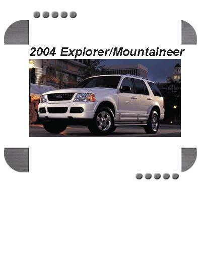 Ford Explorer  Mercury Mountaineer 2004 Factory Service