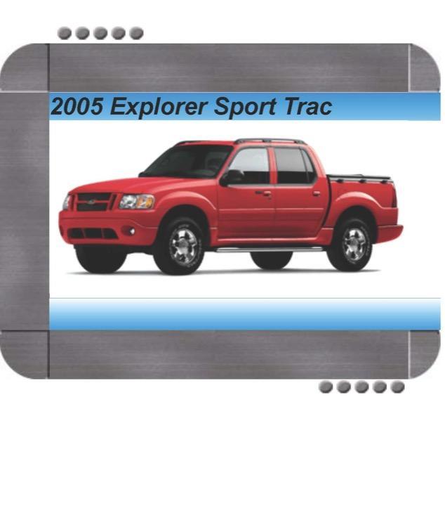 Ford Explorer Sport Trac 2005 Factory Service  U0026 Shop Manual