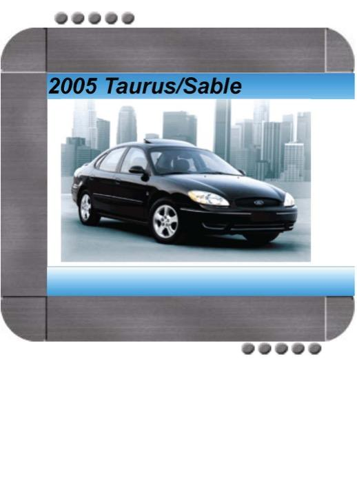 Ford Taurus  Mercury Sable 2005 Factory Service  U0026 Shop