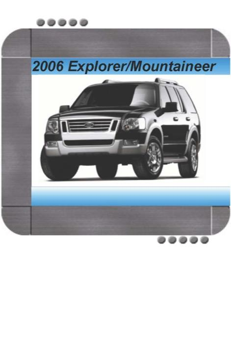 Ford Explorer  Mercury Mountaineer 2006 Factory Service