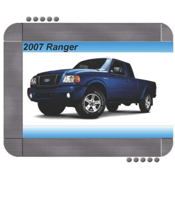 Ford Ranger 2007 Factory Service  U0026 Shop Manual