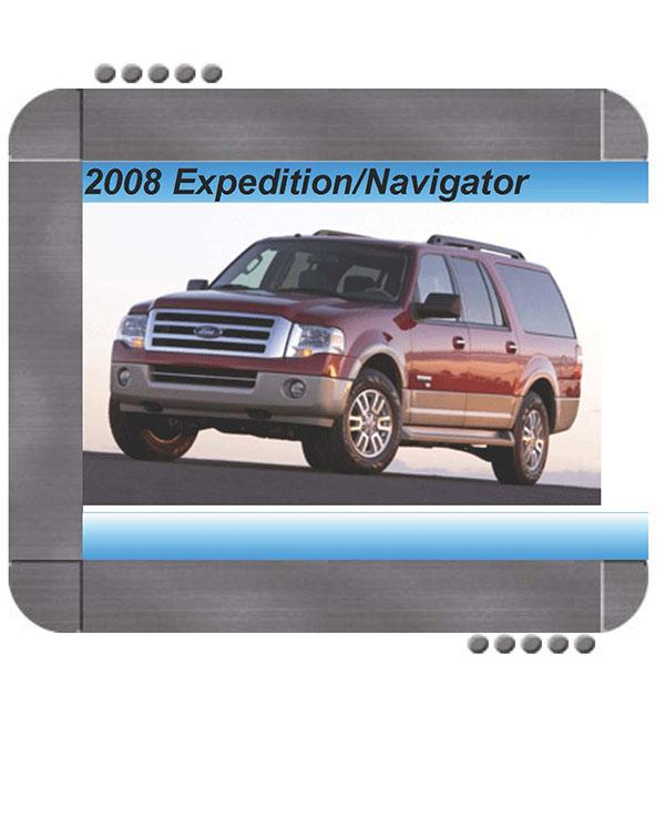 Ford Expedition  Lincoln Navigator 2008 Factory Service