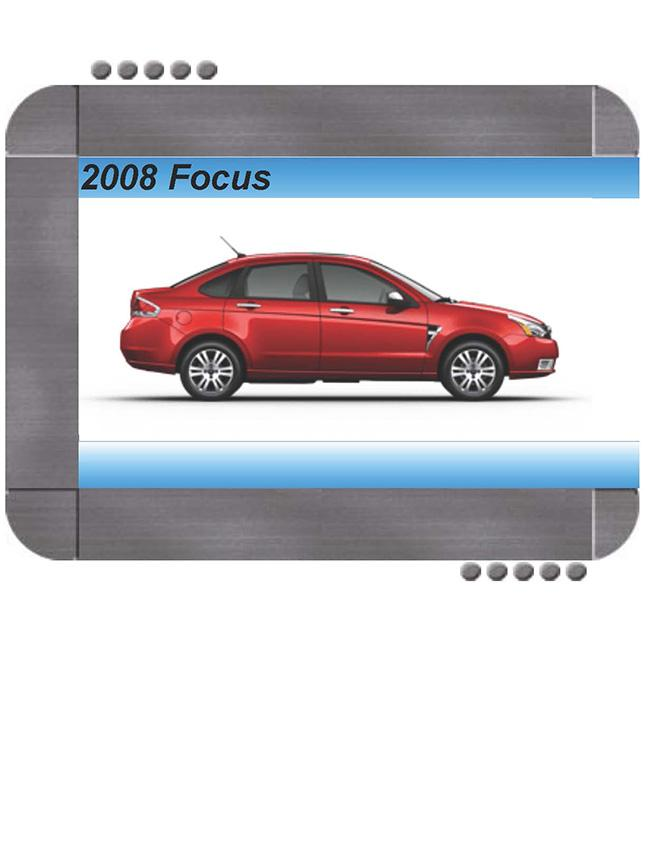 Ford Focus 2008 Factory Service  U0026 Shop Manual
