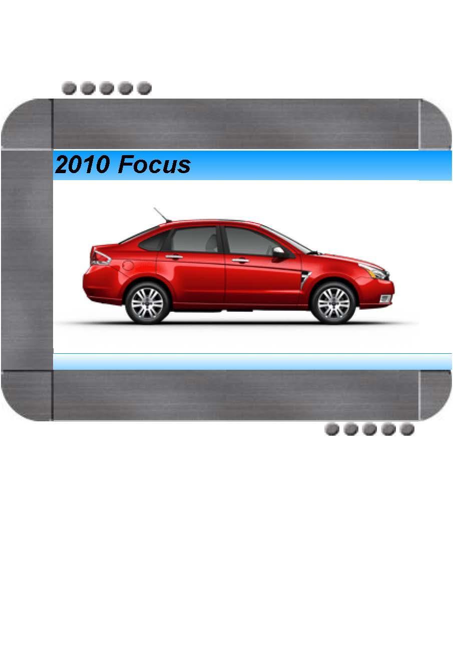 Ford Focus 2010 Factory Service  U0026 Shop Manual