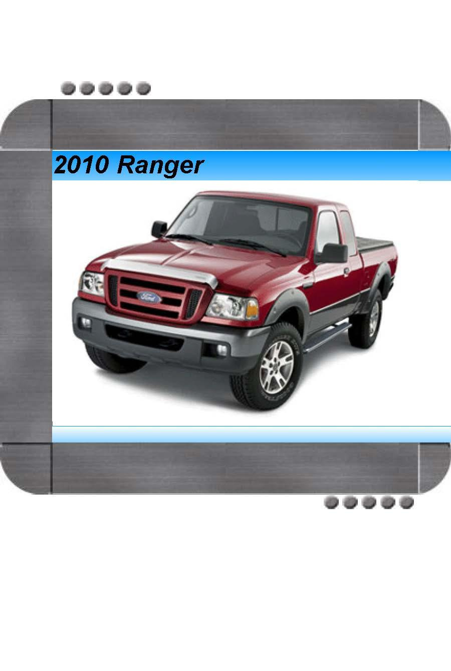 Ford Ranger 2010 Factory Service & Shop Manual | Quality ...
