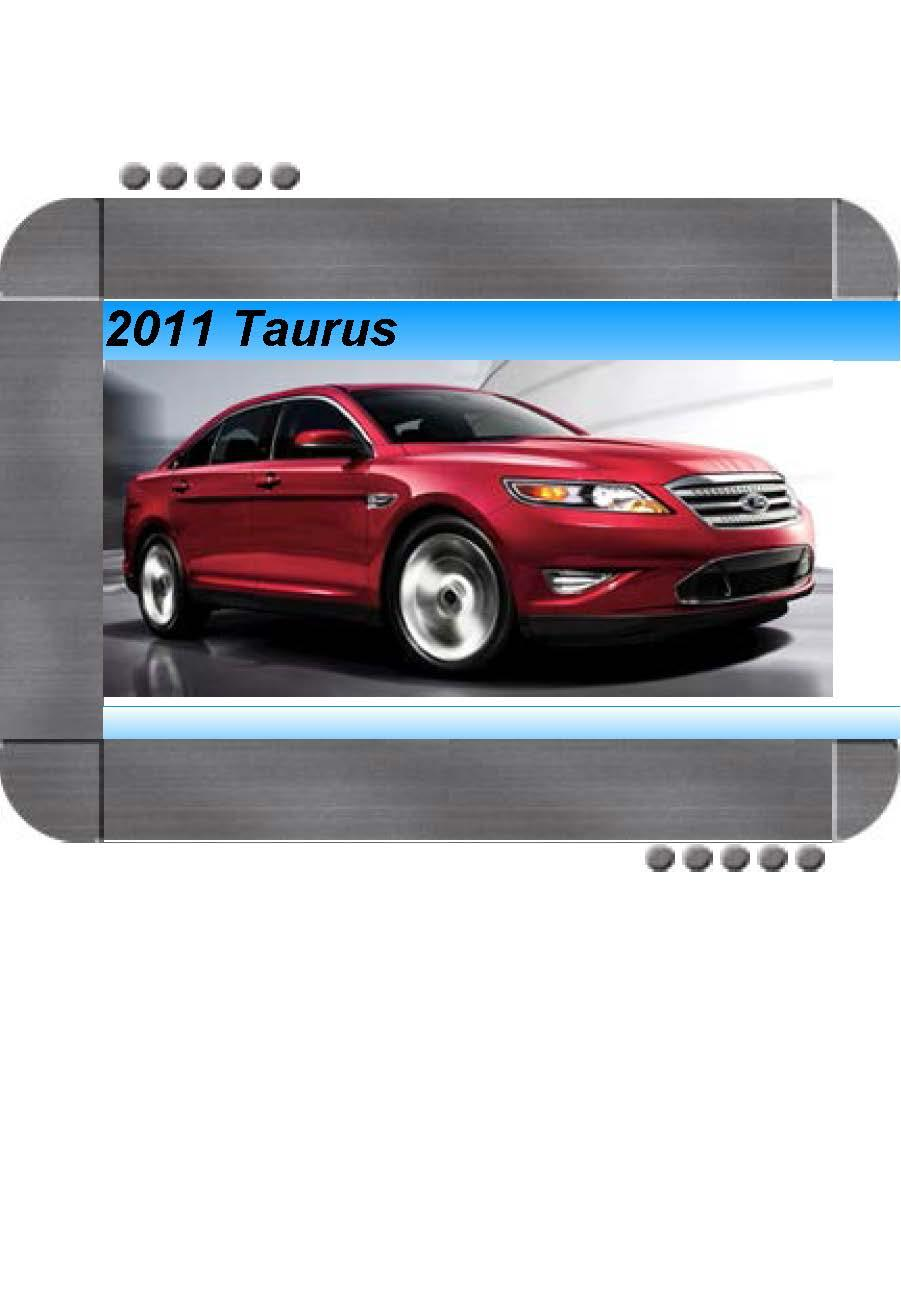 Ford Taurus 2011 Factory Service  U0026 Shop Manual