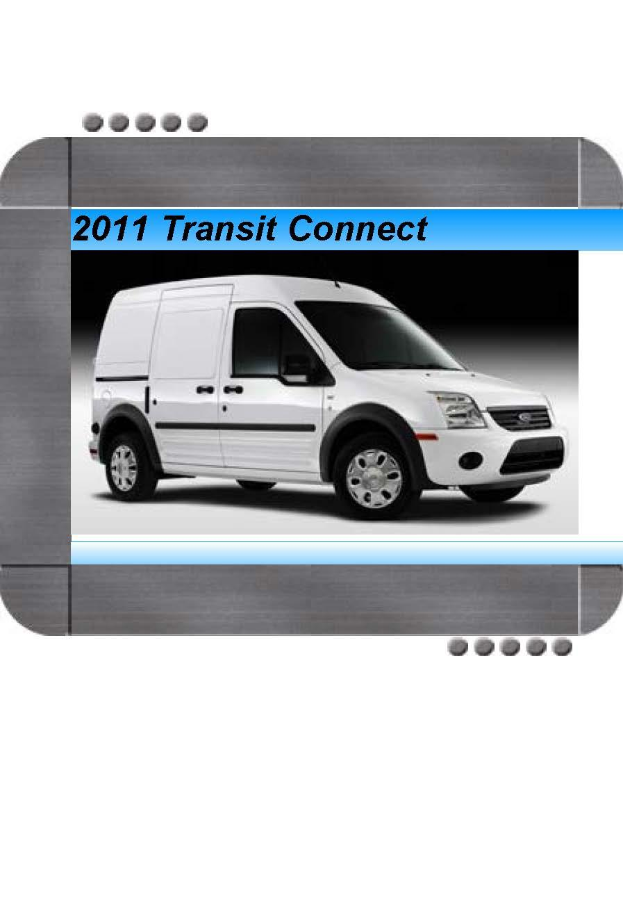 Ford Transit Connect 2011 Factory Service  U0026 Shop Manual