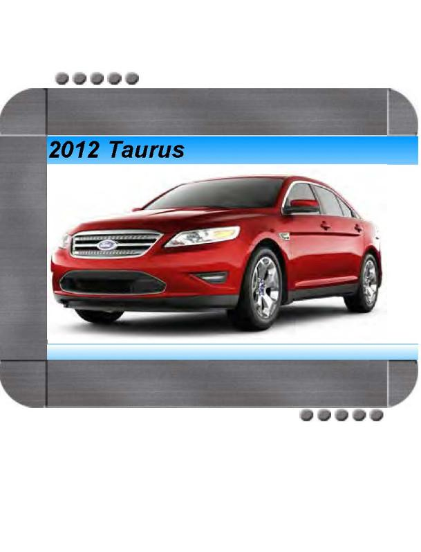 Ford Taurus 2012 Factory Service  U0026 Shop Manual