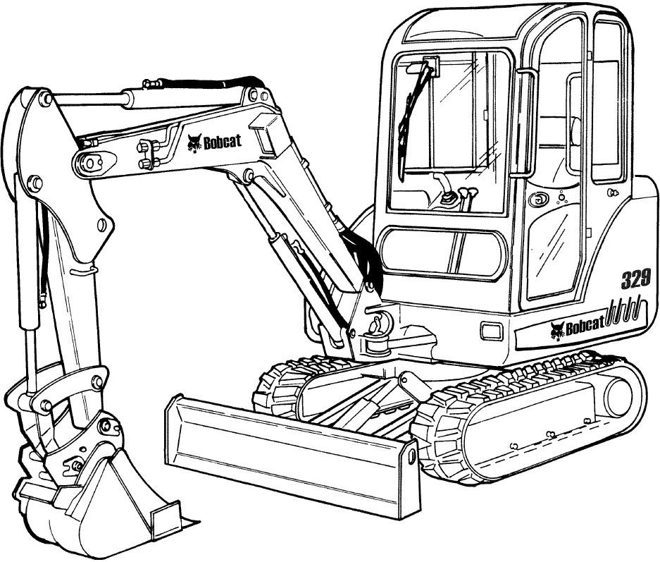 Bobcat 329 Compact Excavator Factory Service  U0026 Shop Manual