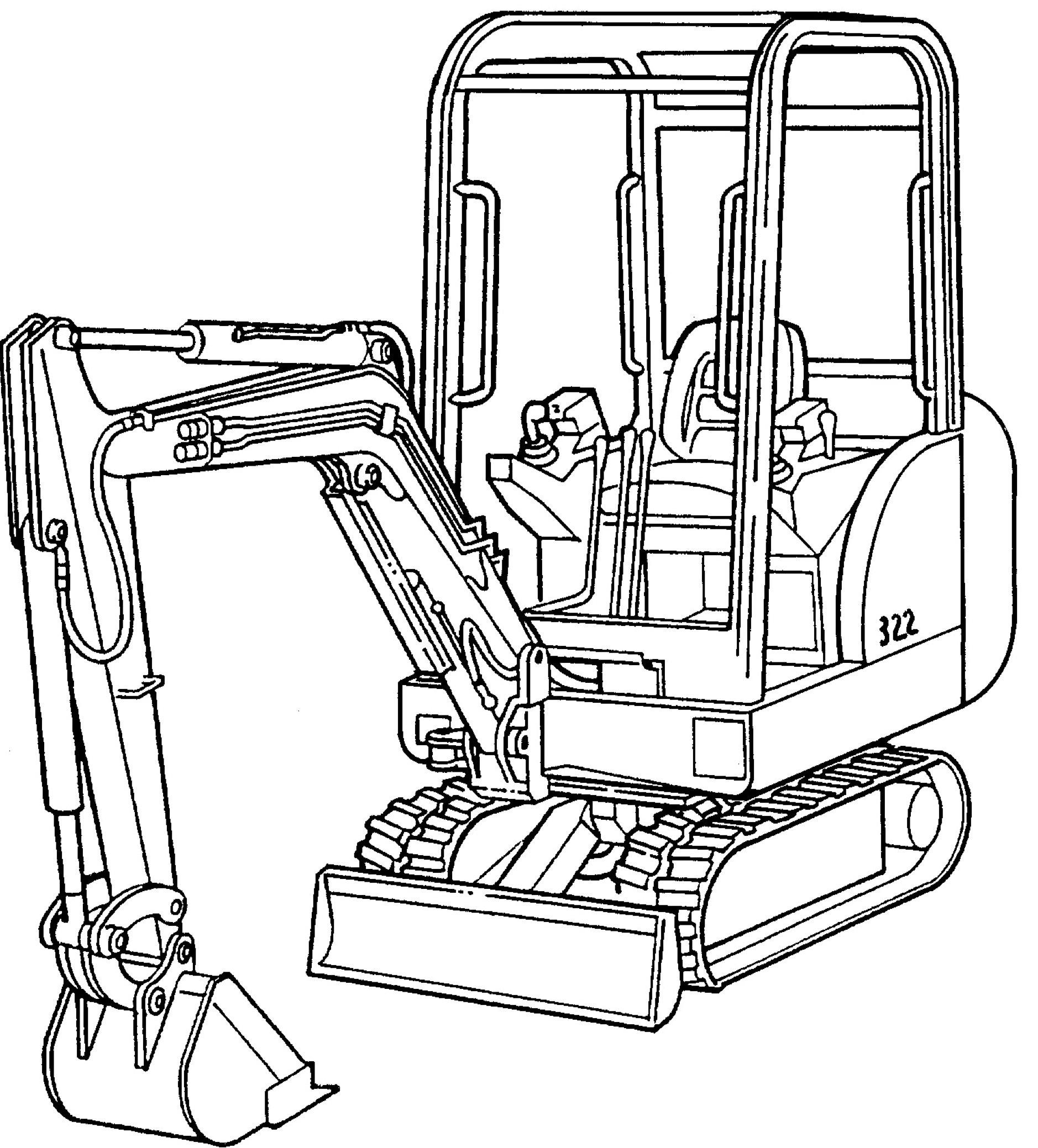 Bobcat 320, 320L, 322, X320, X322 Excavators Factory