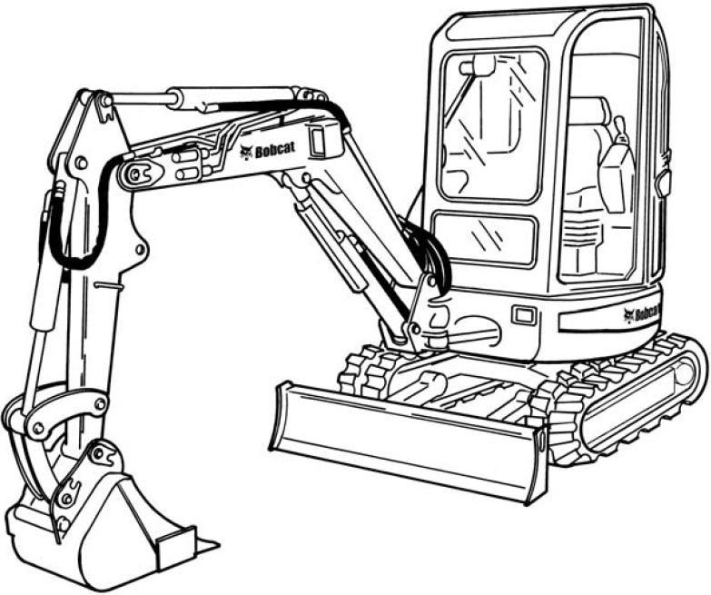 Bobcat 425, 428 Compact Excavators Factory Service & Shop