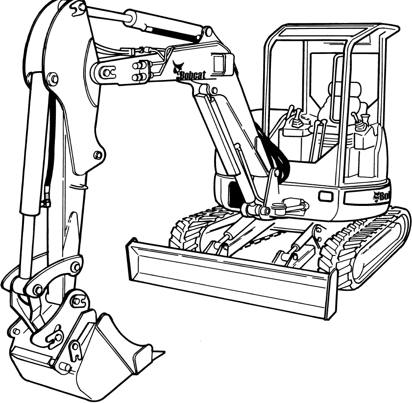 Bobcat 435 Compact Excavator Factory Service & Shop Manual