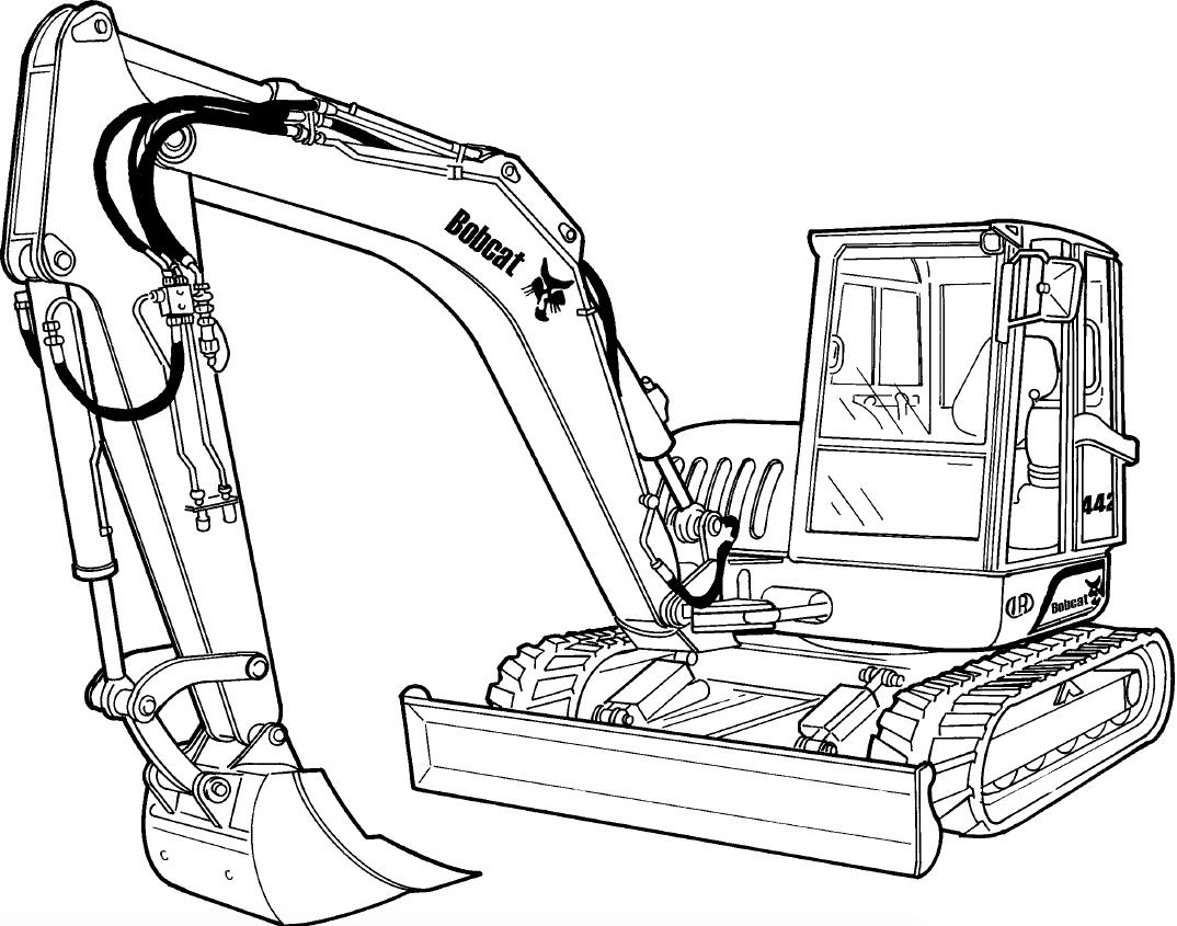 Bobcat 442 Compact Excavator Factory Service & Shop Manual