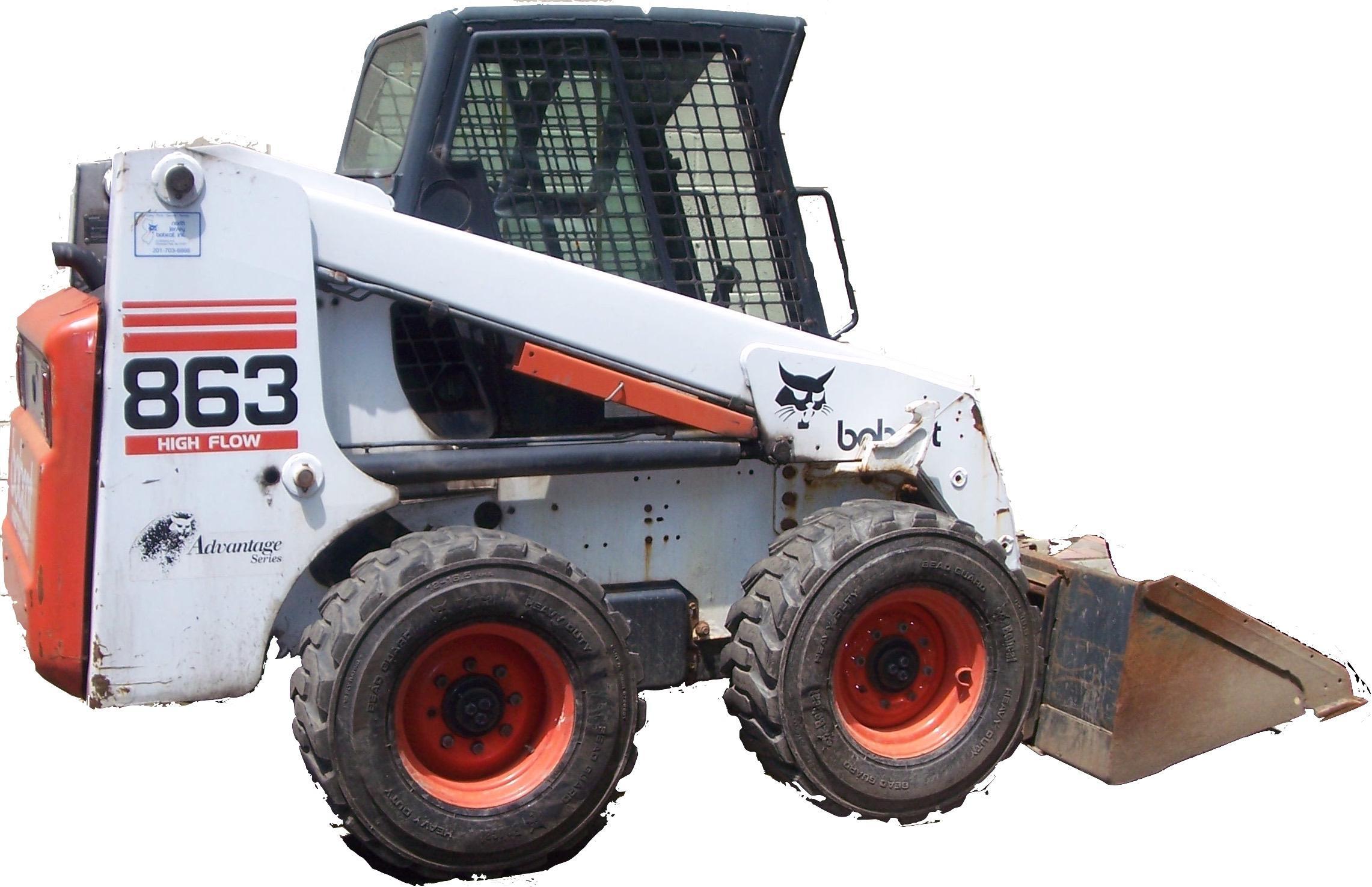 Bobcat 863  863h  863 Turbo  863 Turbo High Flow Loaders