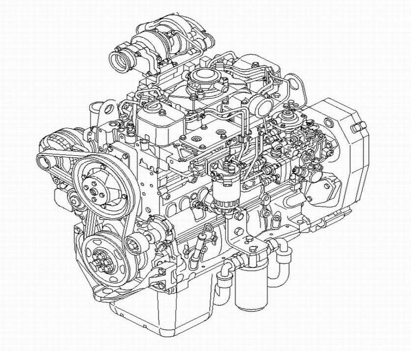 Case & New Holland 445/M2, 445T/M2, 668T/M2 Engine Factory