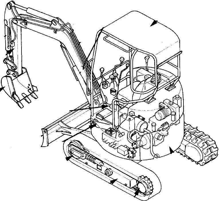 Hitachi EX17u Excavator Factory Service & Shop Manual