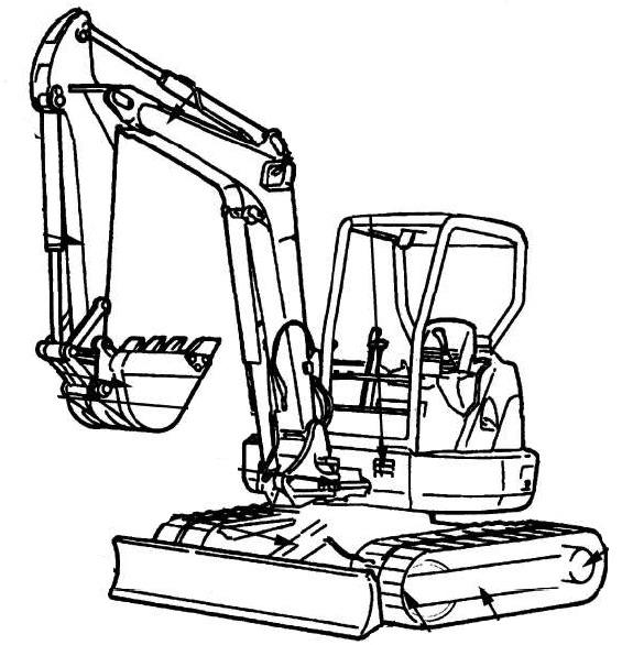 Hitachi EX40u, EX50u Excavator Factory Service & Shop
