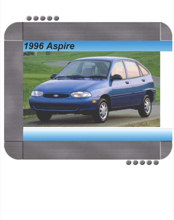 Ford Aspire 1996 Factory Service  U0026 Shop Manual
