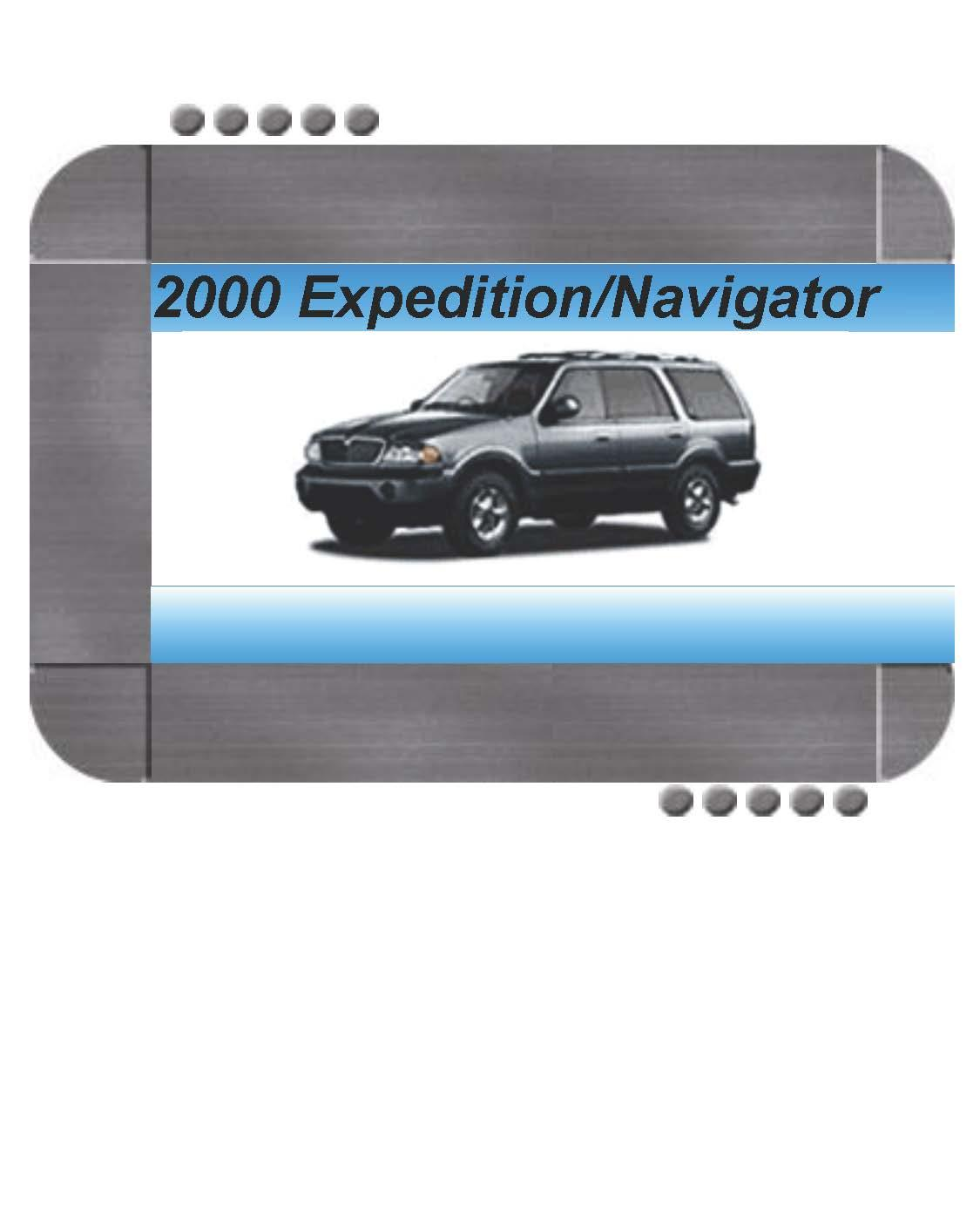 Ford Expedition  Lincoln Navigator 2000 Factory Service