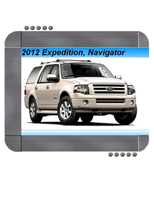 Ford Expedition  Lincoln Navigator 2012 Factory Service