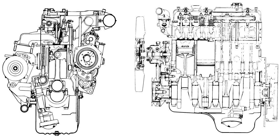 Isuzu A-4JA1, A-4JB1 Models Industrial Diesel Engine