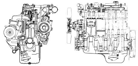 Isuzu A-4JG1 Model Industrial Diesel Engine Factory