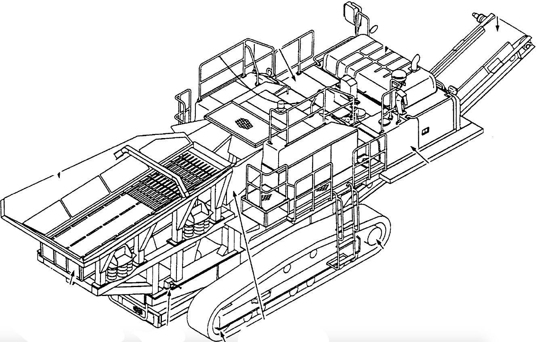 Komatsu Mobile Crusher GALEO BR500JG-1 Factory Service