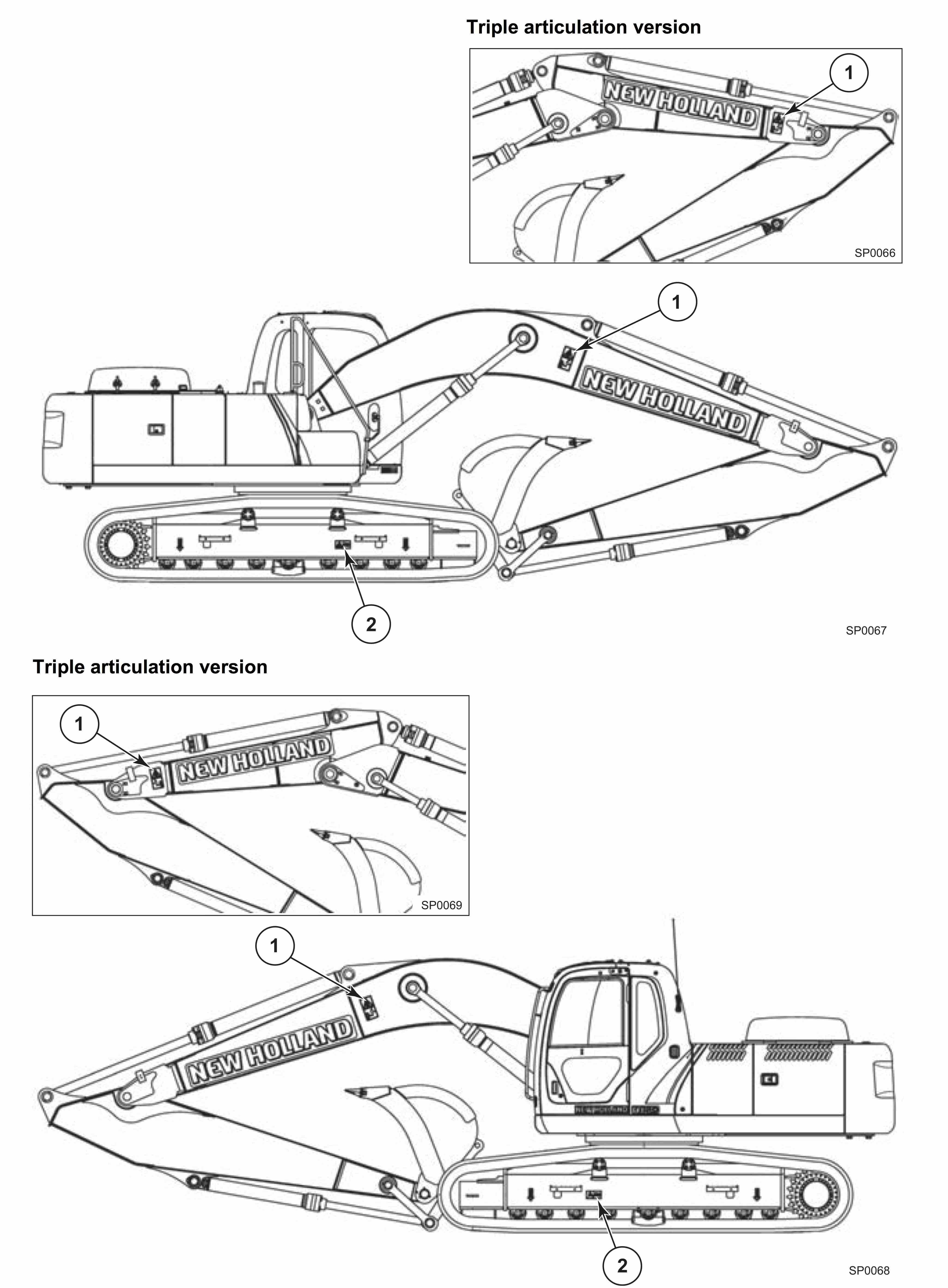 New Holland/Kobelco E265B, E265BLC, E305B Hydraulic
