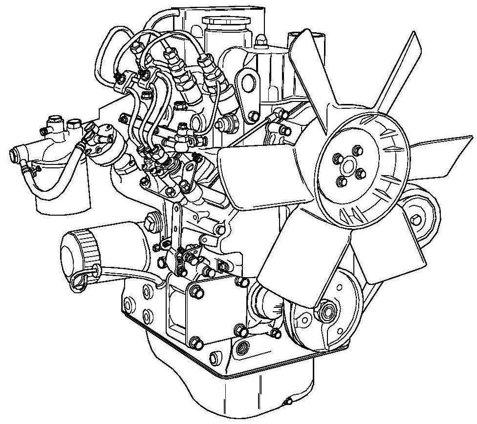 Perkins 100 Series Diesel Engines Factory Service & Shop