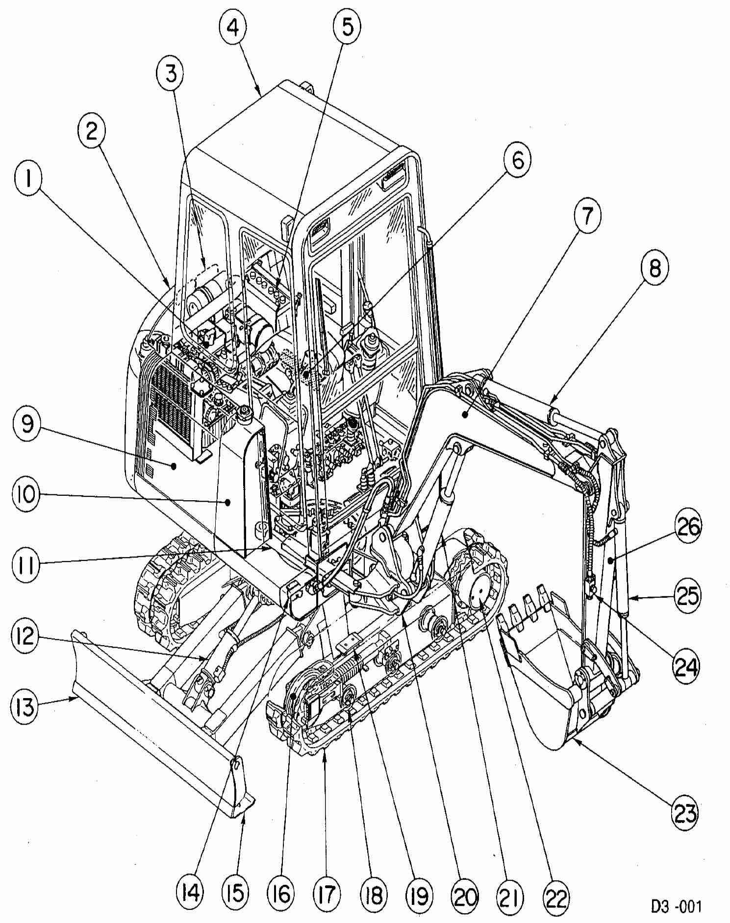 Takeuchi Compact Excavator TB020 Factory Service & Shop